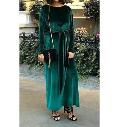 Kadife Uzun Elbise